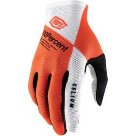 100% Celium Handschuhe orange/weiß
